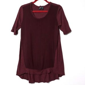 Left of Center | Anthro Maroon Mixed Tunic